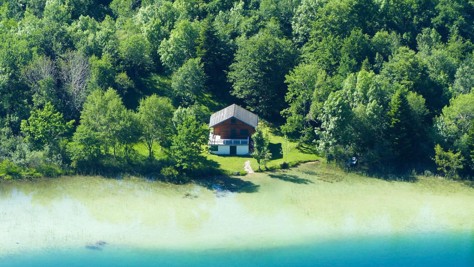 Lac du Grand Maclu depuis le belvédère des quatre lacs