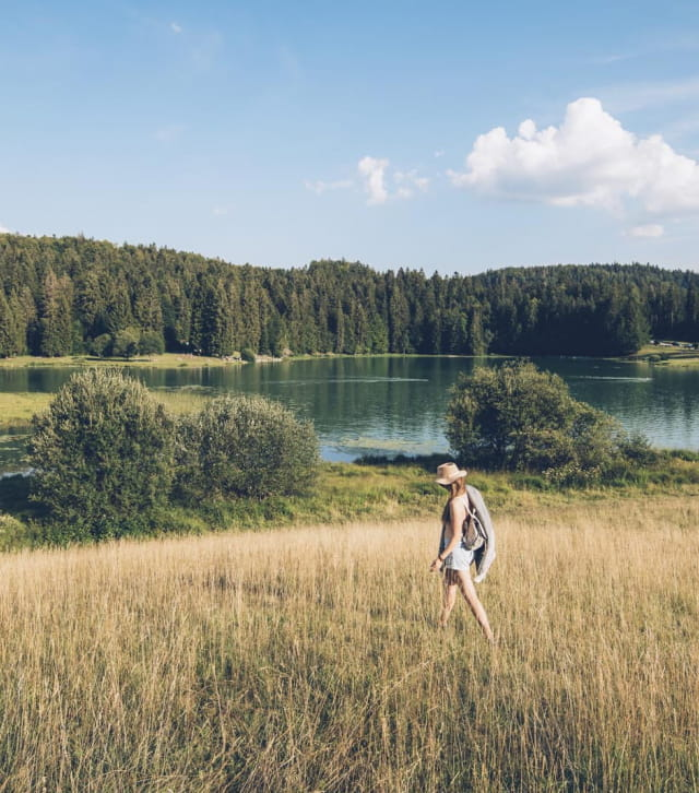 Balade autour du lac Genin en été