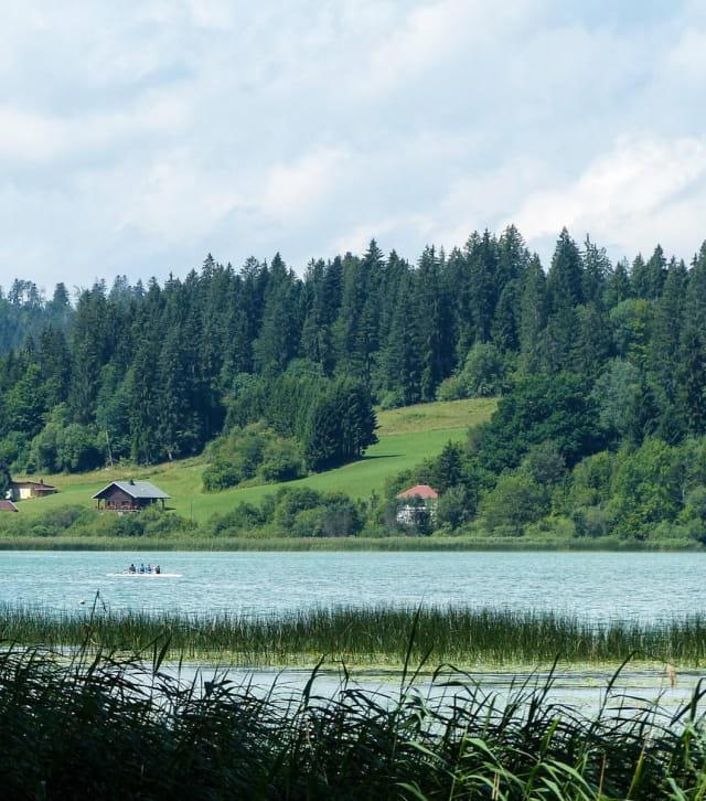 Aviron sur le lac Saint-Point