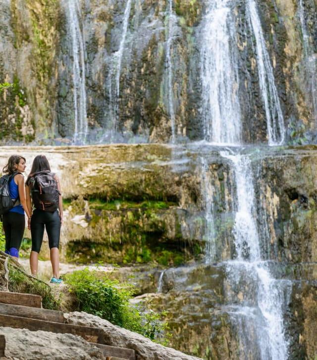 Randonnée aux cascades du Hérisson dans le Jura