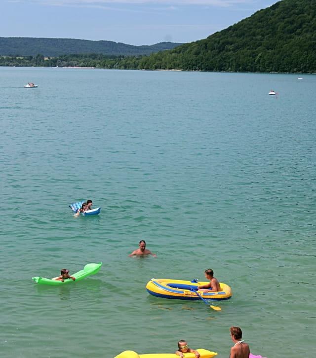 L'été au lac de Chalain dans le Jura