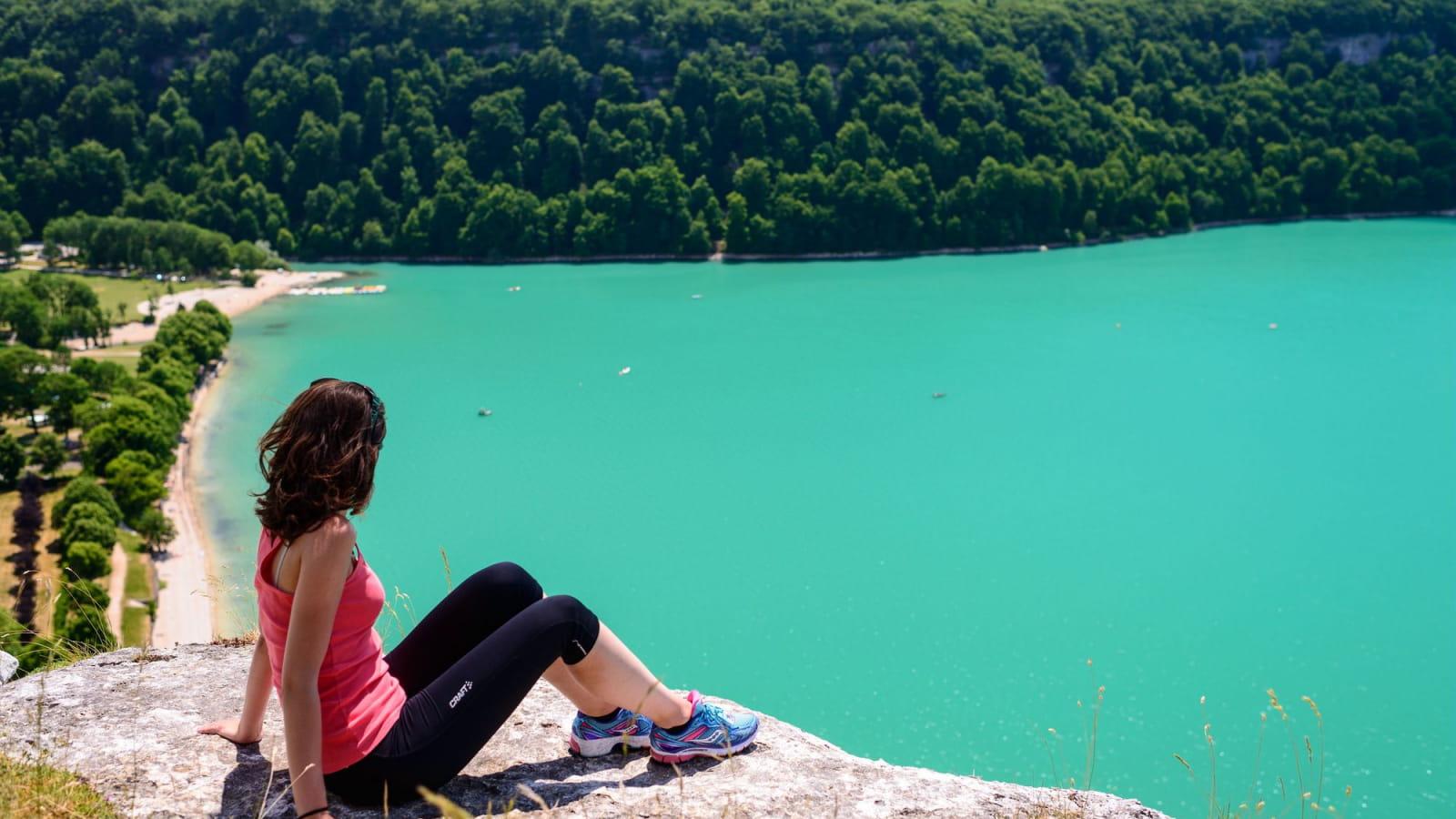 Le lac de Chalain à découvrir près de Château-Chalon