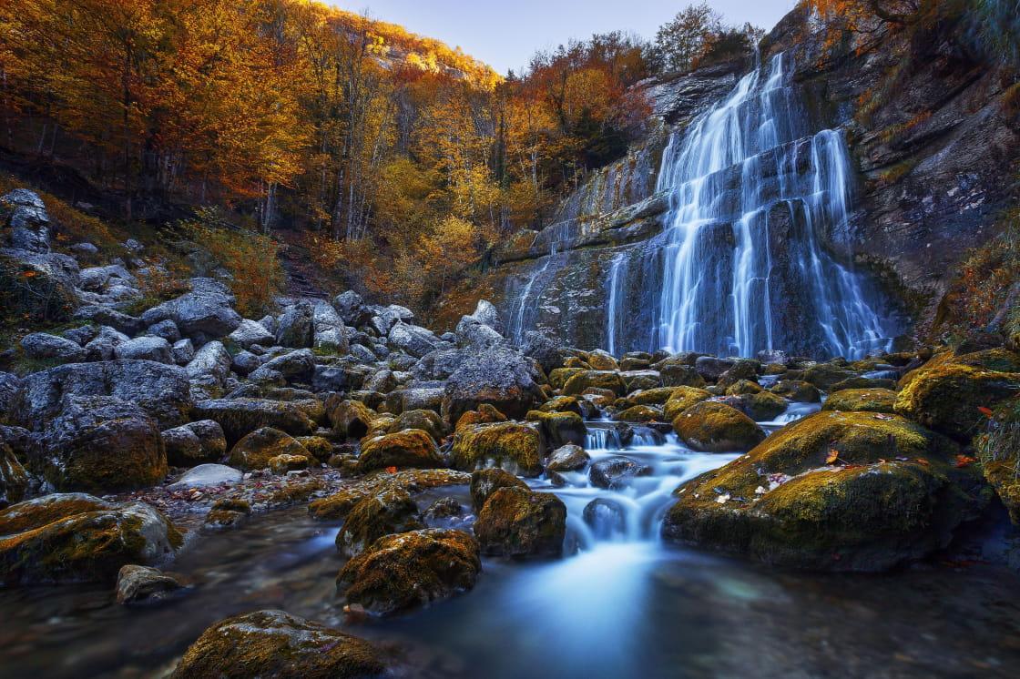Cascades du Hérisson en automne