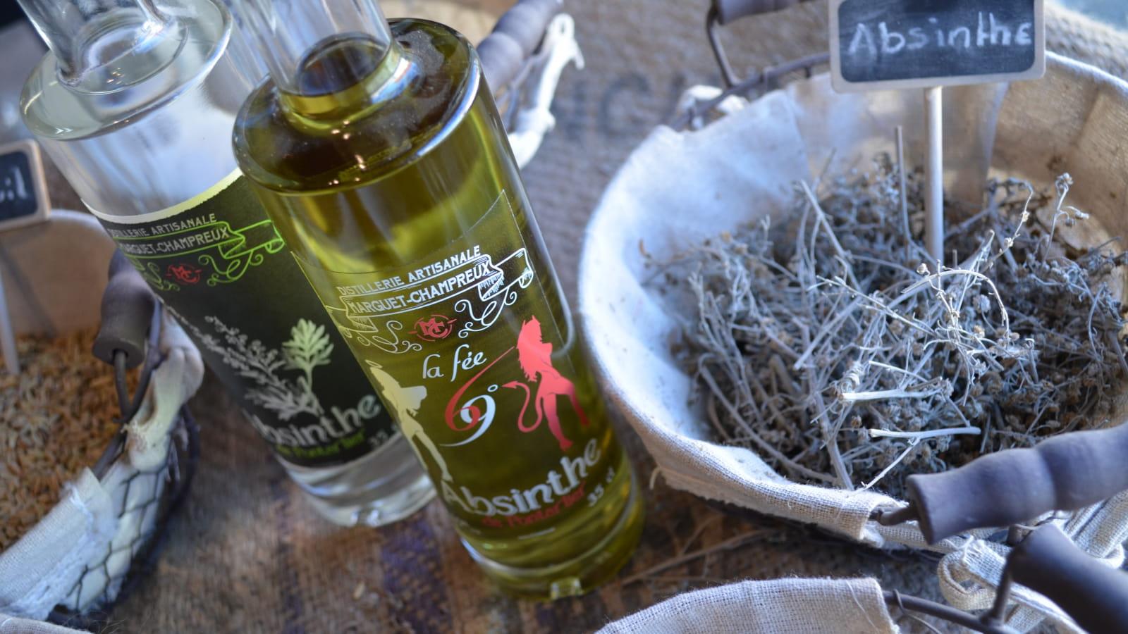 Bouteille d'Absinthe de la distillerie Marguet-Champreux