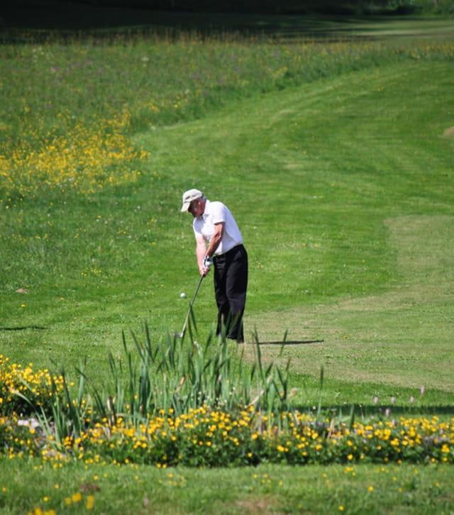 Joueur de golf à Pontarlier