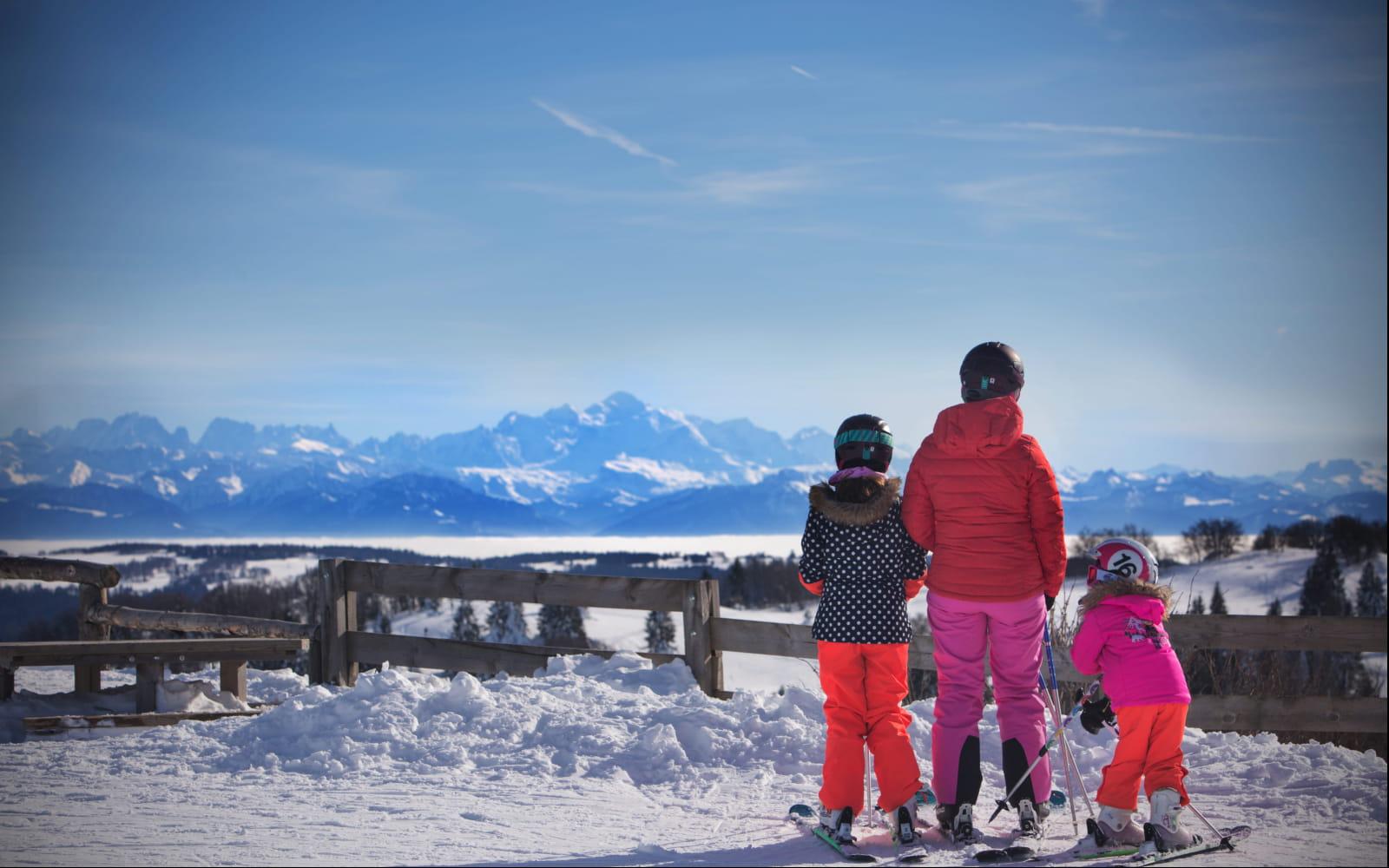 Ski en famille au sommet du Morond à Métabief