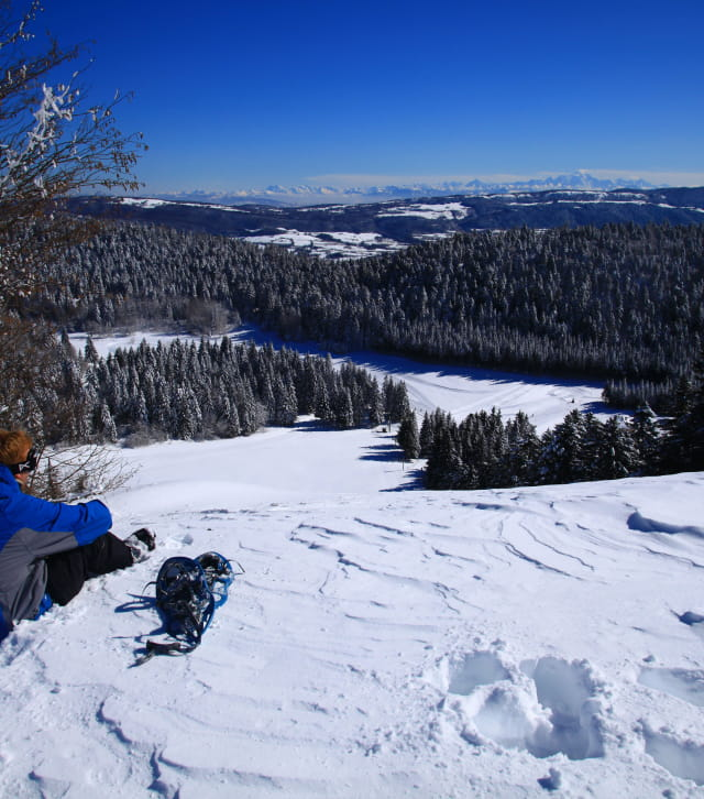 Raquettes et découverte de beaux panoramas sur les Alpes