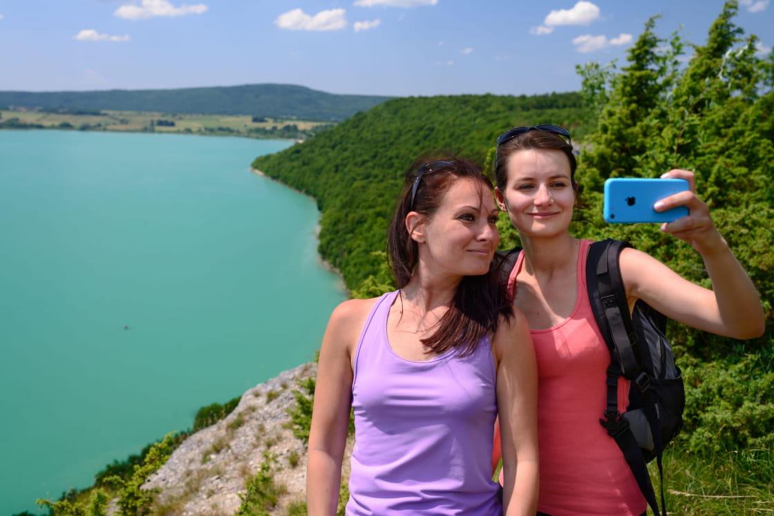 Selfie depuis le belvedere de Fontenu