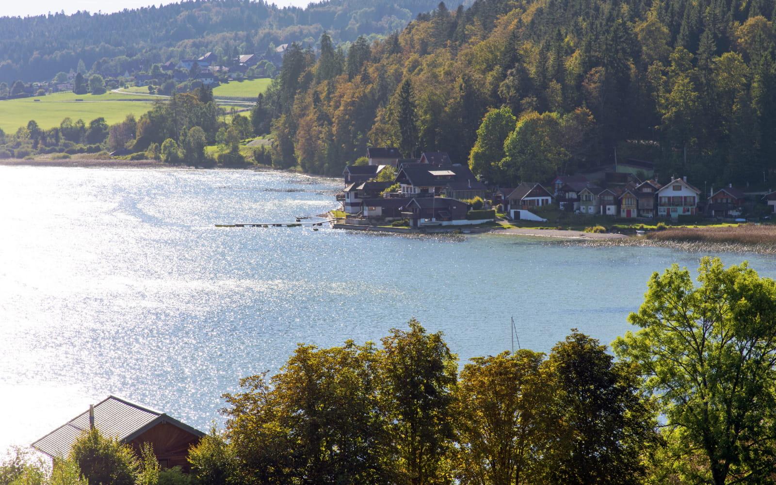 Le lac Saint Point en automne
