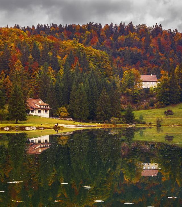 lac genin en automne