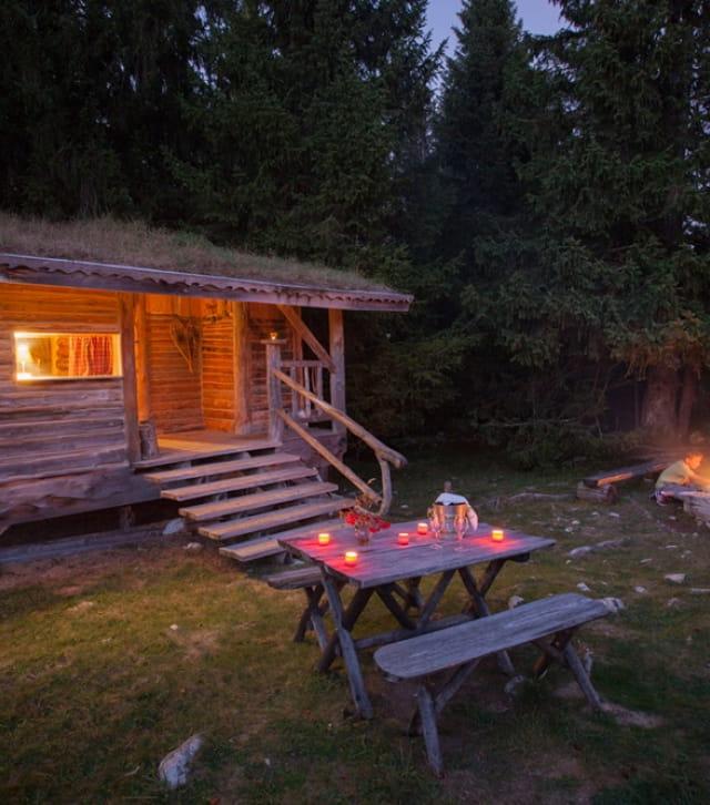 Cabane du trappeur aux loges du Coinchet