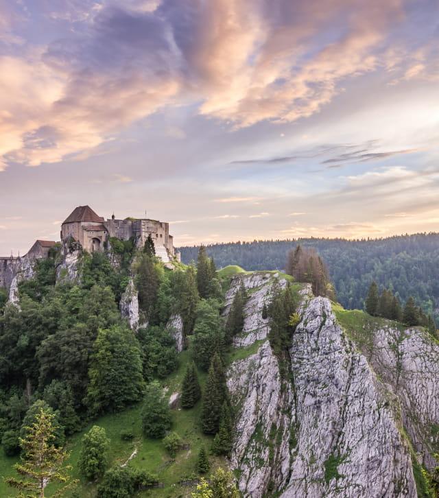 Château de Joux couleurs poudrées