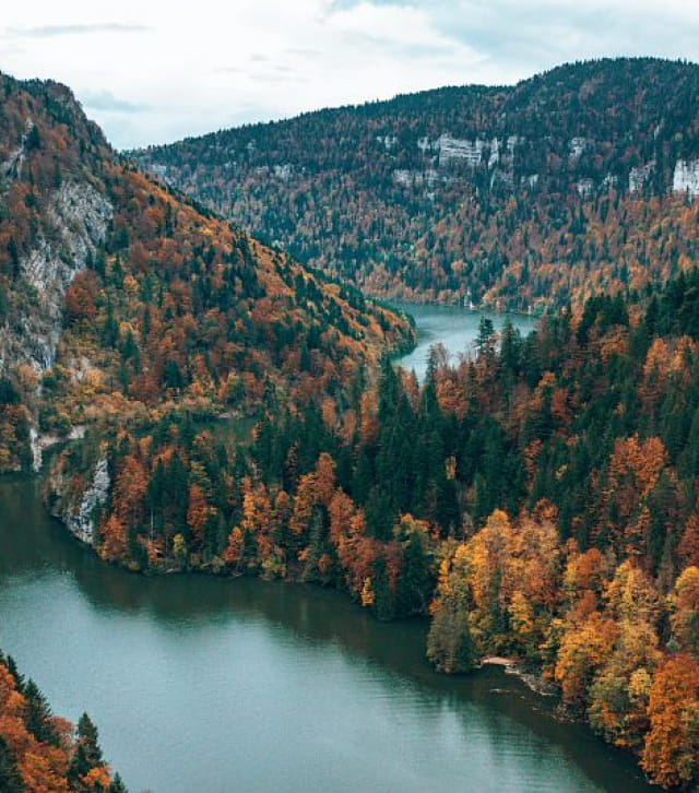 Bassins du Saut du Doubs à l'automne