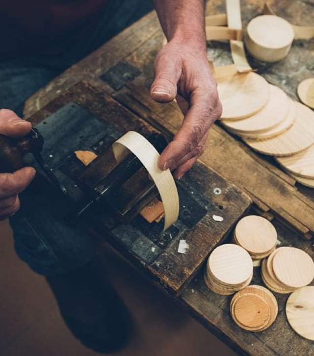 Travail du bois au Musée de la Boissellerie