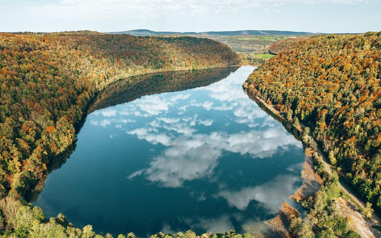 Lac du Val à l'automne
