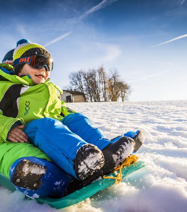 Luge hiver dans les Montagnes du Jura