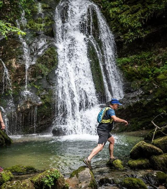 Traileurs au Cascades du Flumen