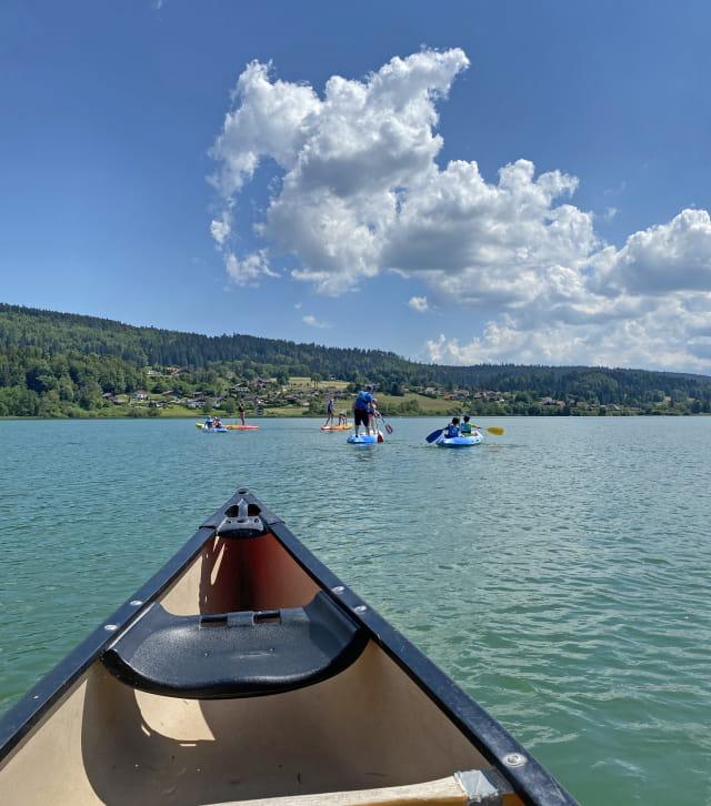 Kayak sur le lac Saint-Point