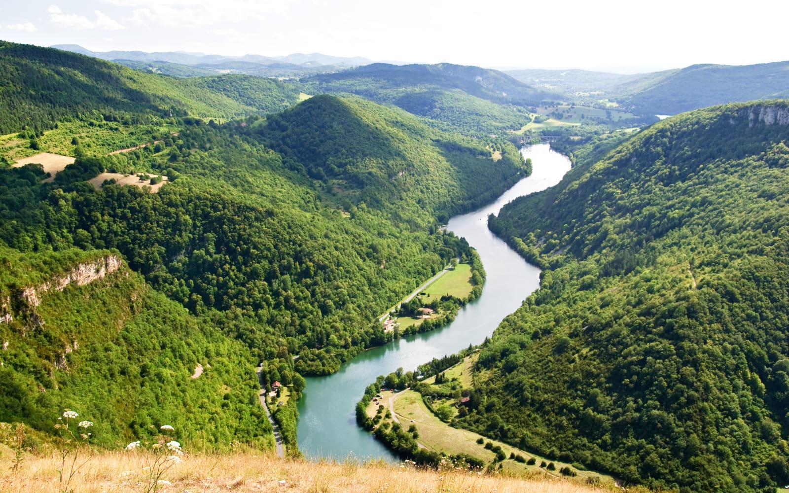 Vue sur la rivière dAin