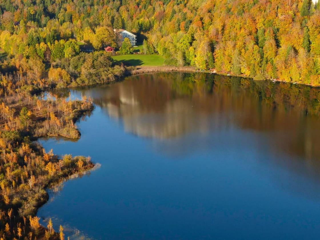 Lac de Bonlieu depuis le belvédère de la Ronde