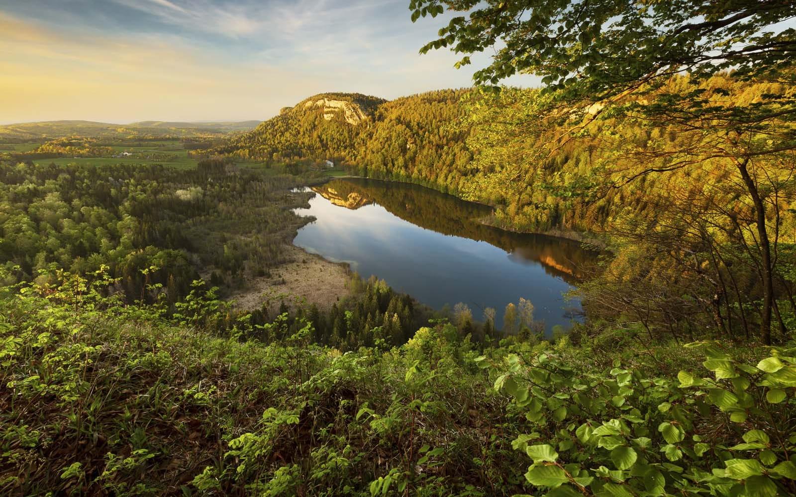 vue sur le lac de Bonlieu
