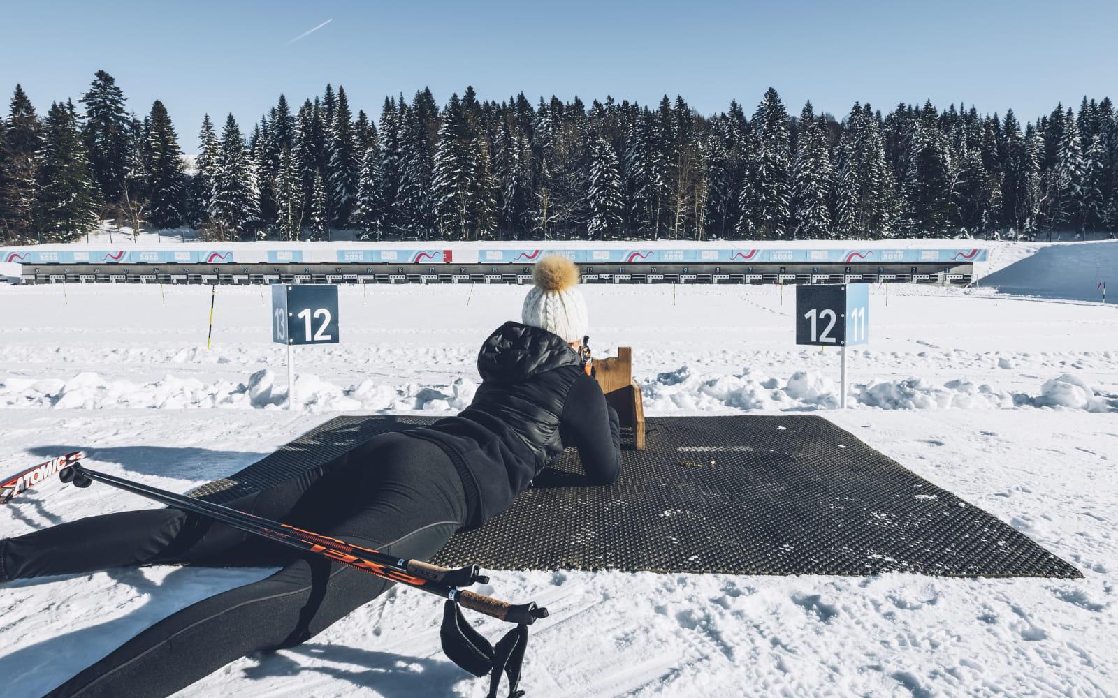Tir biathlon - Stade nordique des Tuffes